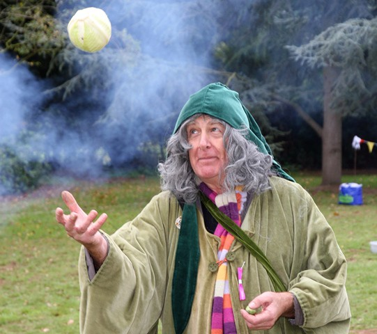 Wizard with cabbage at Halloween 11