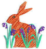 Hare in bluebells