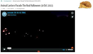 Video of Friday's parade The Real Halloween 2015