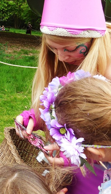 wildflower fairy with seed packet
