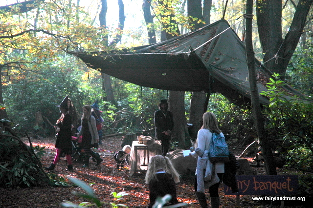 fairy banquet under awning